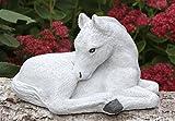 Steinfigur Pferd klein - Antik-Weiss, Fohlen, Garten, Deko, Stein, Figur