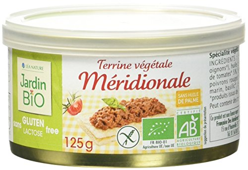 Jardin Bio Terrine Végétale Méridionale sans Gluten 125 g - Lot de 4