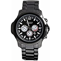 Fashion Watches For men Brand Big Dial Quartz Analog Stainless Steel Watch
