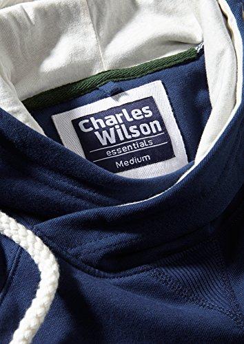 Charles Wilson Schalkragen Kapuzenpulli Marine