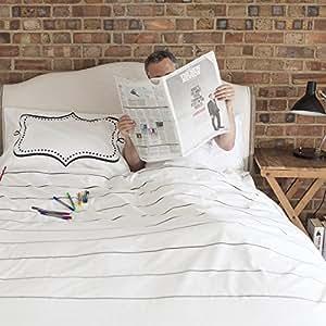 Doodle by stitch housse de couette pour lit double amazon for Amazon housse de couette