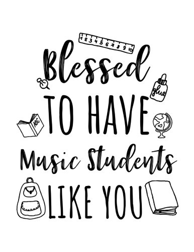 Blessed To Have Music Students Like You: Music Teacher Appreciation Journal Notebook por Dartan Creations