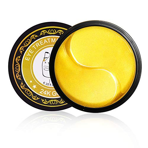 Allouli 24k Gold Gel Eye Mask Anti-wrinkles Eye Patches Hyaluronic Acid Firming Skin Anti-puffiness Remove Fine Lines Dark Circles -