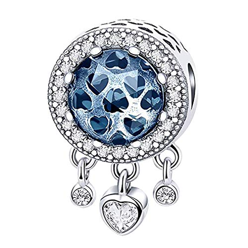 AidShunN Dream Catcher Charm para Mujer de Plata de Ley 925 Colgantes espirituales encantos Aptos para Pulseras del Encanto Collares de Cadena
