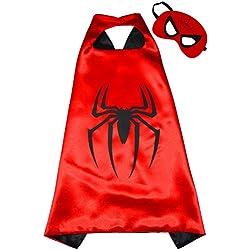 Spiderman Super Héroes de disfraces para niños - Cape y máscara - Juguetes para niños y niñas - Disfraz para niños de 3 a 10 años - para Fasching o temática de fiestas. Mungo - King - kmsc001