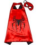 Costumes de Super Héros SPIDERMAN pour les enfants - Cape et masque - JOUETS POUR garçons et filles - Costume pour enfants de 3 à 10 ans - pour carnaval ou la devise de fêtes. - King Mungo - KMSC001