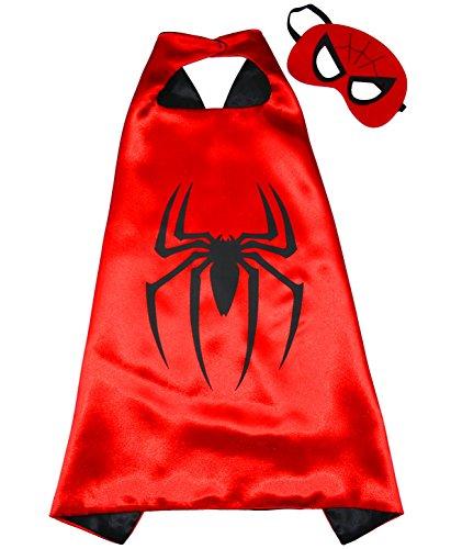 Kostüme Super Jungen Helden (Spiderman Superhelden-Kostüme für Kinder - Cape und Maske - Spielsachen für Jungen und Mädchen - Kostüm für Kinder von 3 bis 10 Jahre - für Fasching oder Motto-Partys! - King)
