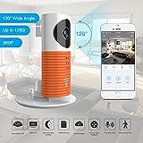 Clever Dog 2. Generation 960P 120 ° Weitwinkelobjektiv Wireless Sicherheit Wifi-Kamera Unterstützung Max 128 GB SD-Karte (Orange)