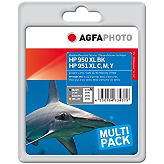 Agfa PHOTO APHP950SETXLC Toner for HP OJ PRO8100 (4) 1 x 2300 Pages, Black, 3 x 1500 Pages, Cyan, Magenta and Yellow