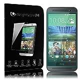 NALIA Schutzglas für HTC One E8, Full-Cover Displayschutz Handy-Folie, 9H gehärtete Glas-Schutzfolie Bildschirm-Abdeckung, Schutz-Film Smart-Phone HD Screen Protector Tempered Glass - Transparent