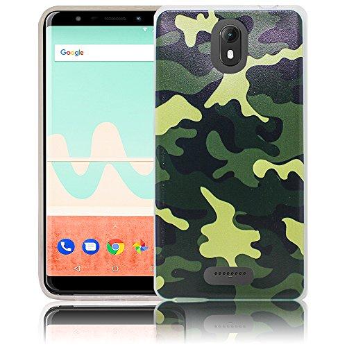 Wiko View GO Camouflage Handy-Hülle Silikon - staubdicht, stoßfest & leicht - Smartphone-Case thematys