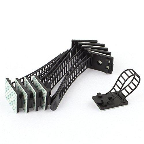 10 Stück selbstklebend Rück Kabel Clip Draht Klammer verstellbar Binderhalter - 2