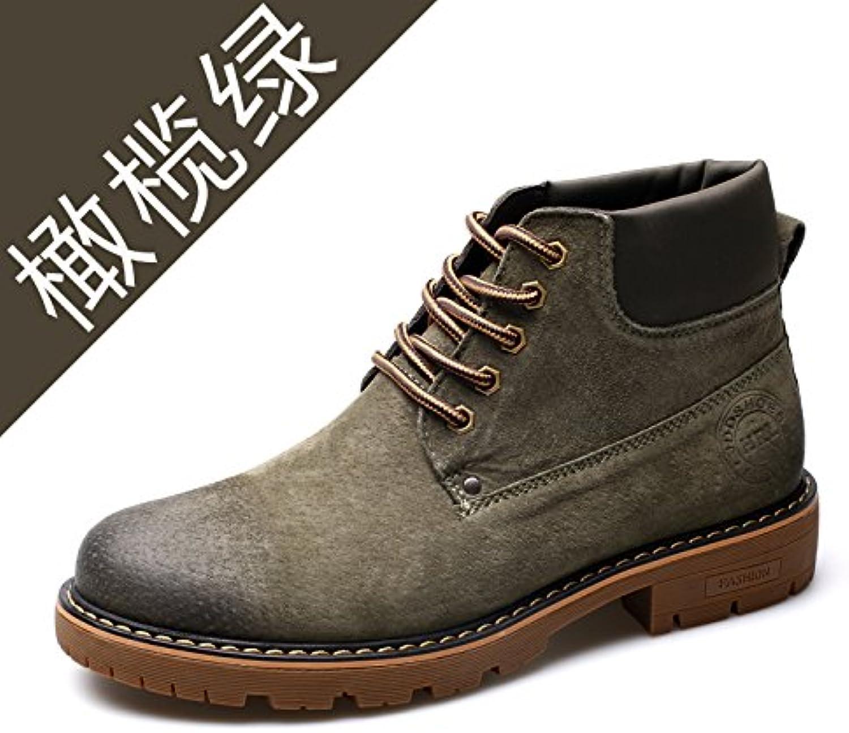 HL-PYL nuevas botas masculinas para ayudar a la versión coreana de Martin botas botas de ruibarbo,38,verde