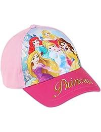Casquette enfant fille 5 Princesses Disney Rose de 3 à 10 ans