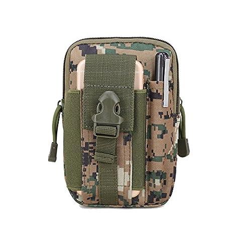 Wantoby Outdoor klein Tactical Hip Bag Hüfttasche Gürteltasche Beintasche für iphone Mode Multifunktional Handytasche für Camping Wandern Outdoor