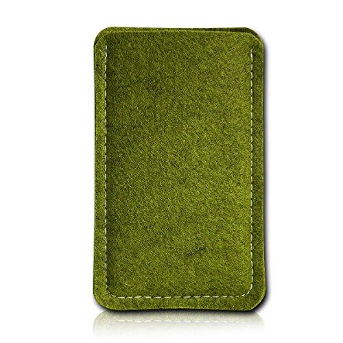 Filz Style Mobistel Cynus E4 Premium Filz Handy Tasche Hülle Etui passgenau für Mobistel Cynus E4 - Farbe oliv