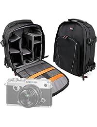 DURAGADGET Mochila Resistente Al Agua + Funda Impermeable Para Cámara Fujifilm X-T2 / Olympus OM-D E-M1 Mark II , PEN F / Sony RX10 III , RX1R II