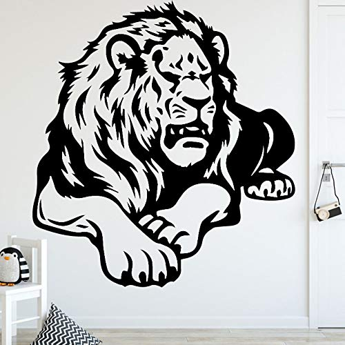 supmsds Nette Löwen Cartoon Tiere Wandaufkleber Für Wohnzimmer Schlafzimmer Dekoration Monster Wandtattoos Selbstklebende Kunst Wohnkultur L 43 cm X 46 cm