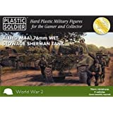 15mm Easy Assembly Sherman M4A1 76mm Wet Tank (5/Box) (BLACK BOX) by Plastic Soldier Company