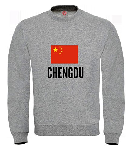 Felpa Chengdu city Gray