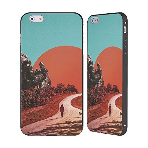 Ufficiale Lacabezaenlasnubes Fiori Surreale Nero Cover Contorno con Bumper in Alluminio per Apple iPhone 5 / 5s / SE La Via