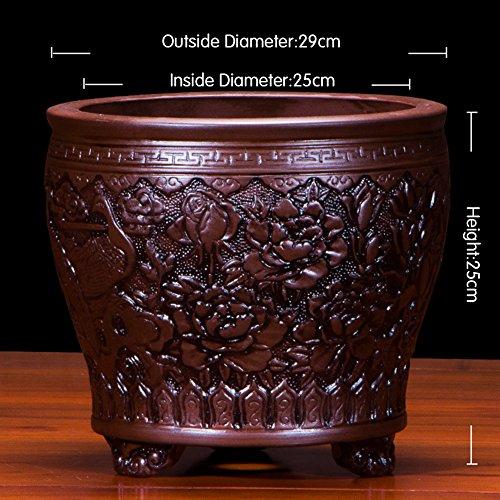 Nclon Dekorative Design Keramikplatten Pflanze Blume Pflanzer Töpfe,Bietet Wunderbar Wachsenden Bedingungen Für Pflanzen Als Seine Natürlichen Porosität Ermöglicht Die Pot -A Große