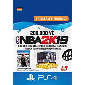 NBA 2K19 – 200.000 VC-Pack – 200.000 DLC | PS4 Download Code – deutsches Konto