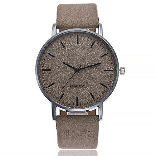 PLOT Damen Quarzuhr Mit Lederarmband | 2018 Hot Sale | Armbanduhren Für Frauen | Geschenke Für Frauen | Einstellbar Uhrenband | Quarzwerk | 20mm Bandbreite | 40mm...