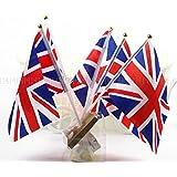 50pcs Union Jack Hand Waving Flag Royal Jubilee UK GB Great Britain Flags by AHG