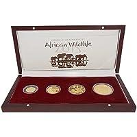 2015 Somalia Elefant 4 Goldmünzen Set Polierte Platte (PP) 1/10 1/4 1/2 und 1 OZ Limited Edition