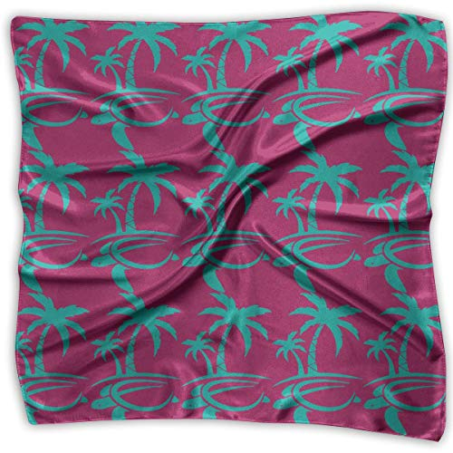 xiadayu Hawaiian Palm Tree and Sea Turtle Square Scarf - Women's Various Design Neck Scarf 100% Polyester