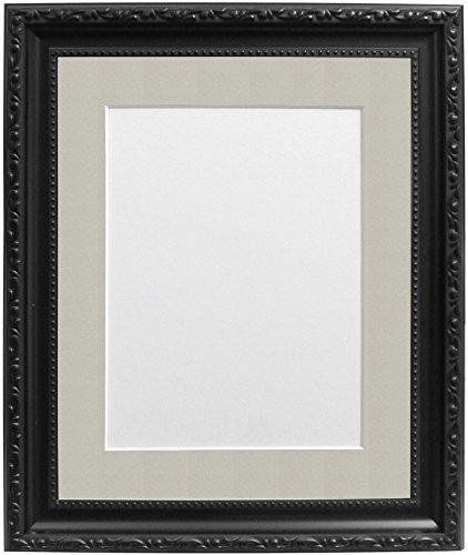 Frames By Post Schwarz Foto Bild Poster Rahmen mit hellgrau Halterung, plastik, 30mm Frame, 6