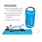 LifeStraw Mission  Kompakter Wasserreiniger mit Hohem Volumen (12 Liter) Filter, Blau, 12 liters -