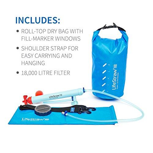 LifeStraw Mission  Kompakter Wasserreiniger mit Hohem Volumen (12 Liter) Filter, Blau, 12 liters - 5