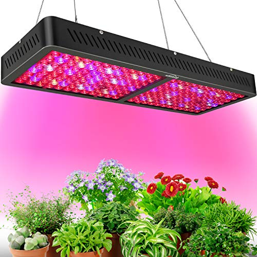 KINGBO LED Pflanzenlampe Neuester LED Grow Light 2000W Doppelter Chip DREI Chip LED Grow Lampe Beleuchtung Vollspektrum für Hydroponik Zimmerpflanzen Wachstum Blumen und Gemüse