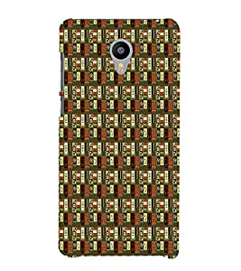 Abstract Painting 3D Hard Polycarbonate Designer Back Case Cover for Meizu M2