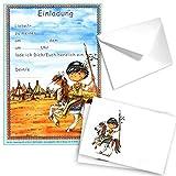 24-teiliges Einladungsset INDIANER in DIN A5 von Döll-Verlag