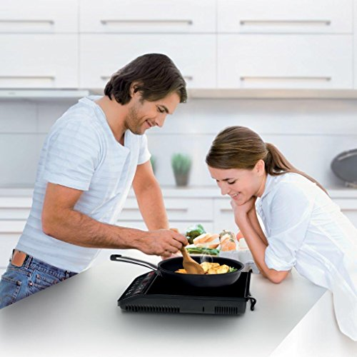 Tefal Everyday Induction Hob IH201840, Ceramic Coated Cooking Plate – Black