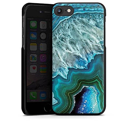 Apple iPhone 7 Plus Silikon Hülle Case Schutzhülle Kristall Edelstein Blau Hard Case schwarz