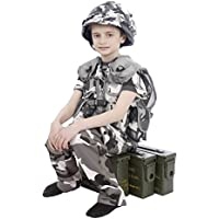 Bambini Army urbano Camouflage Casco/Assalto Gilet/T-Shirt/pantaloni Combo età 3–14Anni