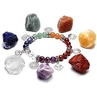CrystalTears Chakra-Heilungsset, 7unregelmäßige, rohe Chakra-Steine und Stretch-Armband mit 7verschiedenen Chakra-Perlen... preisvergleich bei billige-tabletten.eu