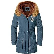 Escalier Abrigo anoraks chaqueta parka de mujer con capucha de pelo para invierno