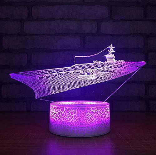 Schiff 3D Nachtlicht Bunte Note Acryl Großhandel Kinder Lampe Weihnachtsgeschenk Für Baby Room Led 3D Leuchten