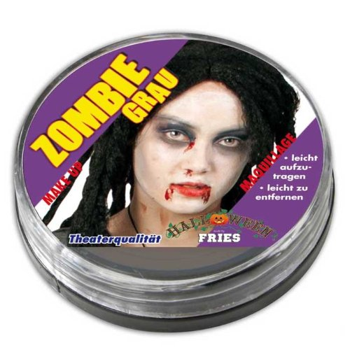 NEU Theater-Schminke Zombiegrau (Leiche Kostüm Make Up)