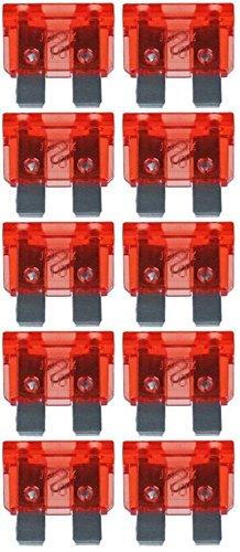 baytronic Standard Flachstecksicherung Kfz-Sicherung (10 Stück 10 A rot) -