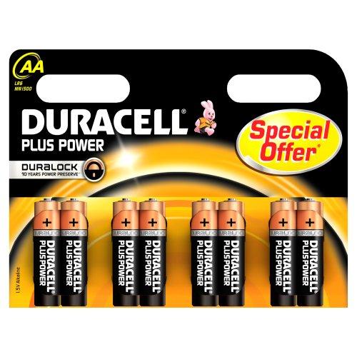 Duracell DURALOCK MN1500 - Batterie stilo AA/LR6, set da 8 pz.