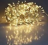 LED Lichterkette Deko Kette für Innen und Außen 4 bis 60 Meter, warmweiß, transp. Kabel, IP44, für Garten, Terasse, Balkon, Party, Hochzeit, Weihnachten (40m mit 400 LEDs)