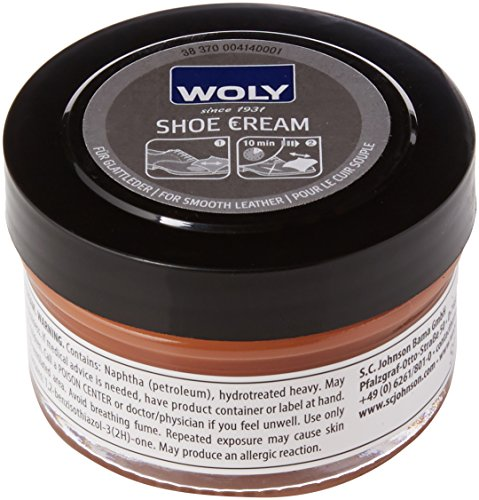 Woly Unisex Erwachsene Shoe Cream Schuhcreme & Pflegeprodukte, Braun (Light Brown), 50.00 ml