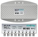 Axing SPU 81-00 Interruttore DiSEqC 8x1 commutatore satellitare (8 ingressi, 1 uscita) per montaggio esterno