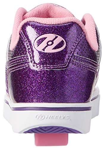 Heelys Motion Plus, Sneakers Basses Fille Violet (Purple / Pink Glitter)